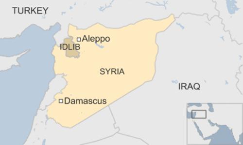Vị trí thành phố Aleppo. Đồ họa BBC.