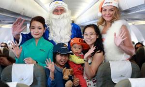 Giáng sinh đặc biệt trên những chuyến bay nội địa và quốc tế