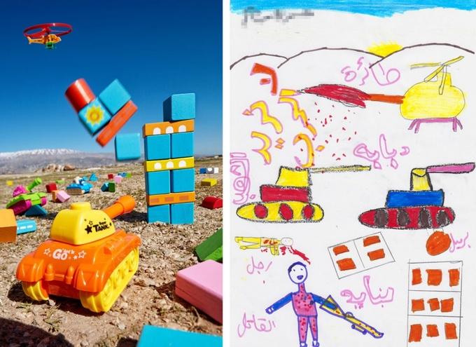 Trẻ em Syria nghĩ về chiến tranh qua hình họa
