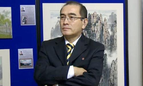 Cựu phó đại sứ Triều Tiên ở Anh Thae Yong-ho. Ảnh: Reuters.