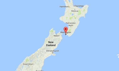Vị trí thủ đô Wellington của New Zealand. Đồ họa: Google Maps