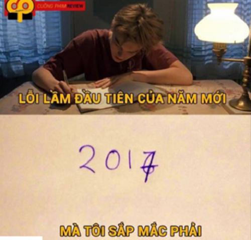 Lỗi lầm đầu tiên của năm.