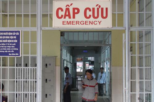 Khoa Cấp cứu Bệnh viện đa khoa tỉnh Vĩnh Long. Ảnh: Cửu Long