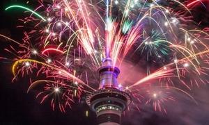 New Zealand bắn pháo hoa mừng năm mới