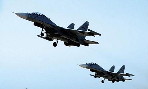 Chiến đấu cơ Su-30 của không quân Trung Quốc. Ảnh: PLA