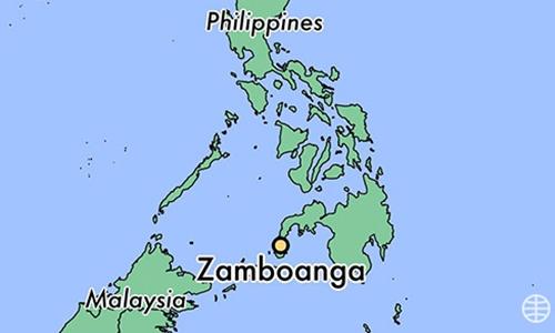 Vị trí thành phố Zambo