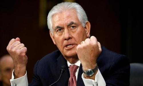 Ứng viên ngoại trưởng Mỹ Rex Tillerson. Ảnh: Reuters