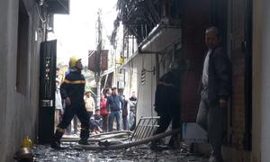 Đám cháy gây thiệt hại 5 nhà dân