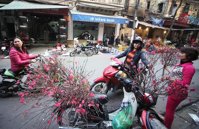 Những hình ảnh trên phố Hà Nội nhìn là thấy Tết đã rất gần