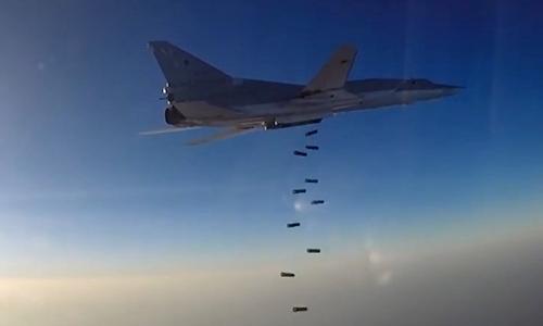 Máy bay Nga ném bom mục tiêu Nhà nước Hồi giáo tại Aleppo, Syria, tháng 8/2016. Ảnh: Tass.
