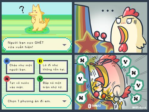 Năm con gà nhưng lại bị rồng Pikachu cướp sóng.