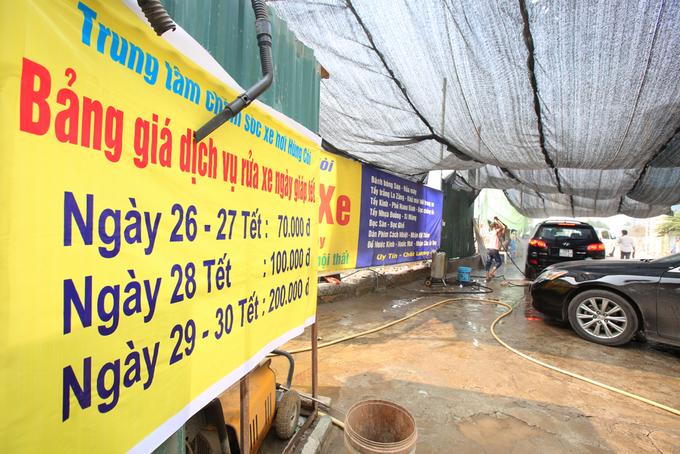 Rửa xe những ngày 'bão giá'