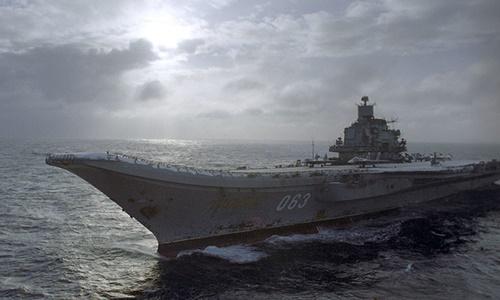 Tàu Đô đốc Kuznetsov. Ảnh: Sputnik.