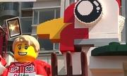 Hong Kong làm mô hình gà khổng lồ bằng lego đón năm mới