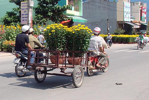 Cảnh buôn bán diễn ra khá ế ẩm ở các chợ hoa tại Quảng Ngãi. Ảnh: Long Vương