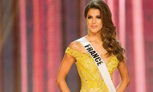 Hoa hậu Pháp mặc váy của Hoàng Hải thi Miss Universe