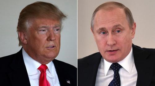 Tổng thống Mỹ Donald Trump và người đồng cấp Nga Vladimir Putin. Ảnh: AP