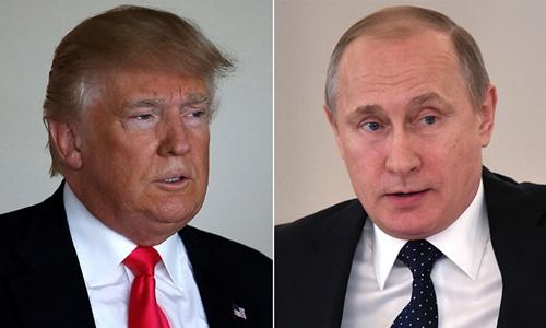 Tổng thống Mỹ Donald Trump và Tổng thống Nga Vladimir Putin. Ảnh: Reuters.