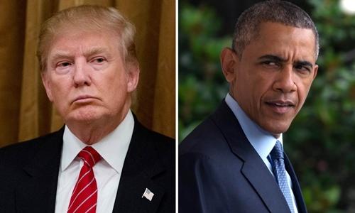 Tổng thống Donald Trump và người tiền nhiệm Barack Obama. Ảnh: NBC News.