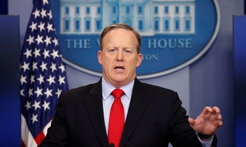 Người phát ngôn Nhà Trắng Sean Spicer. Ảnh: Reuters.\