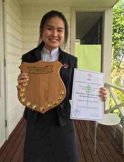 Nguyễn Ngọc Đan Thanh  Sinh viên IB năm thứ 2  Auckland International College, NZ