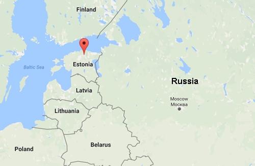Vị trí thị trấn Tapa, Estonia. Đồ họa: Google Maps.