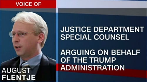 August Flentje, người đại diện cho chính quyền Tổng thống Donald Trump. Ảnh: CNN.
