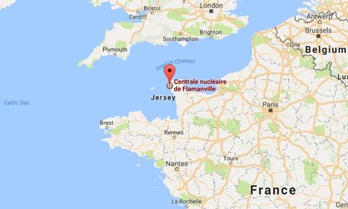 Vị trí nhà máy điện hạt nhân bị nổ tại Pháp. Đồ họa: Googlemap