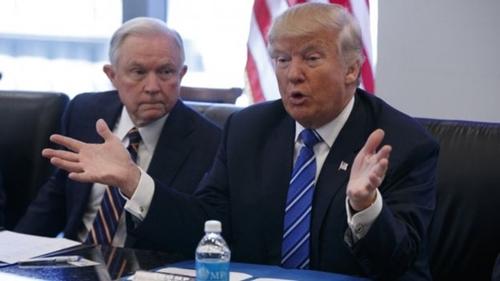 Ông Sessions ủng hộ Donald Trump từ rất sớm. Ảnh: AP