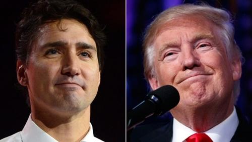 Thủ tướng Canada Justin Trudeau và Tổng thống Mỹ Donald Trump. Ảnh: