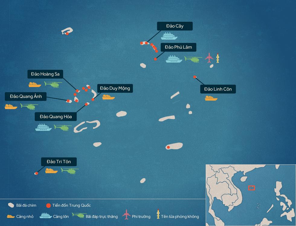 Trung Quốc xây phi pháp những gì tại quần đảo Hoàng Sa?