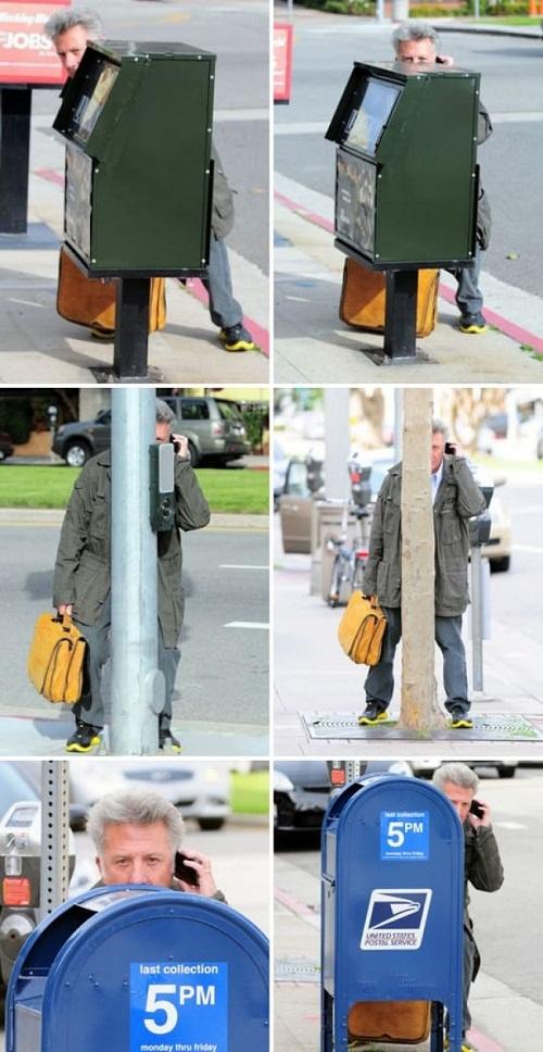 Nam diễn viên Dustin Hoffman thường xuyên chơi trò trốn tìm giữa phố.