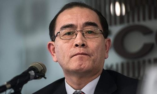 Thae Yong-ho, cựu phó đại sứ Triều Tiên ở London. Ảnh: AFP