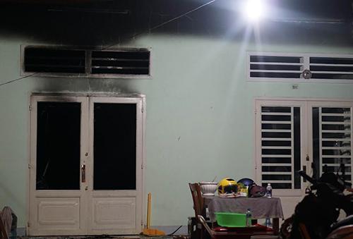 Căn nhà xảy ra hỏa hoạn khiến 4 người tử vong. Ảnh: Nguyệt Triều