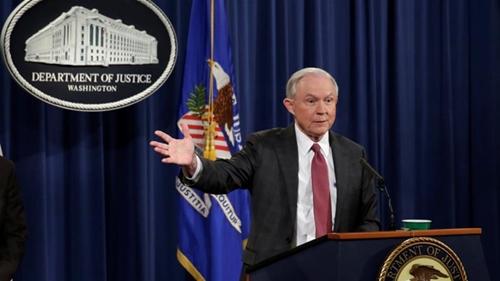 Bộ trưởng Tư pháp Jeff Sessions. Ảnh: Reuters