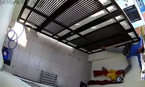 Trộm leo tường hơn 2 mét để vào nhà bẻ khóa