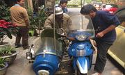 Cụ ông 86 tuổi độ xe máy cũ thành sidecar ba bánh