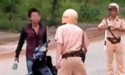 Người đòi CSGT trả bằng cấm báo đưa tên cha, chú nóng trên mạng XH