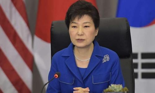 Tổng thống Hàn Quốc bị phế truất Park Geun-hye. Ảnh: AFP