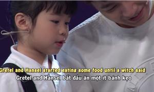 Bé 5 tuổi kể chuyện bằng tiếng Anh gây sốt