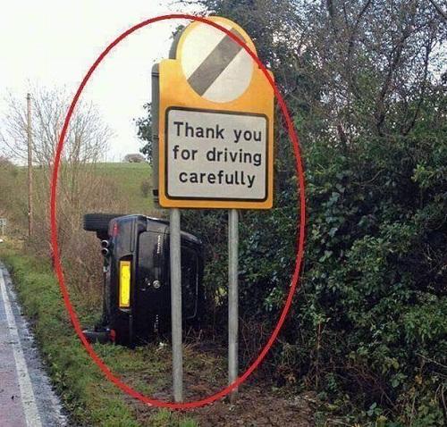 Cảm ơn vì bạn đã lái xe cẩn thận.