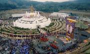 Đức Gyalwang Drukpa khai mở tranh gấm thêu Phật Quan Âm kích thước lớn nhất