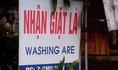 Giặt là phiên bản tiếng Anh - Việt -  tiếng Anh, thảm họa tiếng Anh, ngôn ngữ