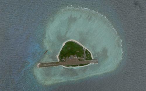Đảo Thị Tứ, quần đảo Trường Sa. Ảnh: Google Earth.