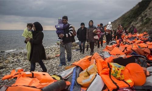 Thổ Nhĩ Kỳ dọa dừng chặn dòng người tị nạn để châu Âu gặp rắc rối. Ảnh minh họa: AP.