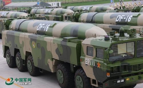 Tên lửa DF-16 của Trung Quốc. Ảnh: Peoples Daily.