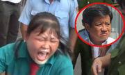 Cô gái ngồi trên xe máy gào khóc khi bị ông Đoàn Ngọc Hải xử phạt