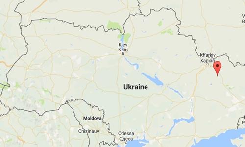 Vị trí thành phố Balakleya, Ukraine.