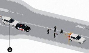 Ôtô chở 100 bánh heroin tháo chạy trong làn đạn như thế nào