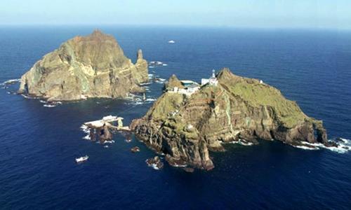 Quần đảo tranh chấp giữa Hàn Quốc và Nhật Bản Dokdo/Takeshima. Ảnh: Koreajjang.